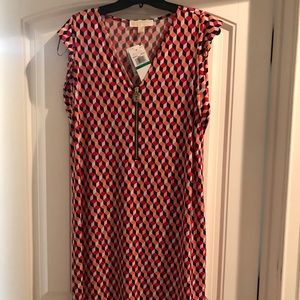 Michael Kors Geometric Print Dress L